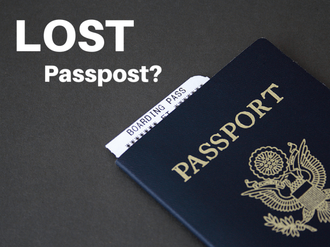 Losing Passport while on a trip