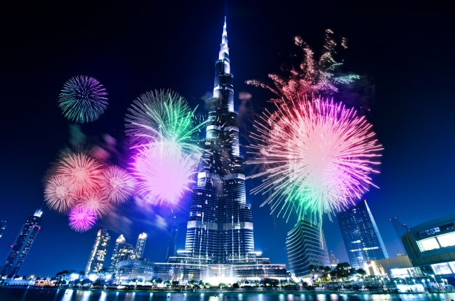 Fireworks at Burj Khalifa